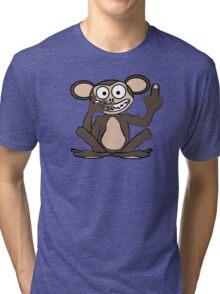 Crazy Monkey Tee (Furless) Tri-blend T-Shirt