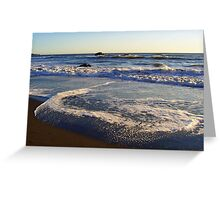 The beauty of sea foam Greeting Card