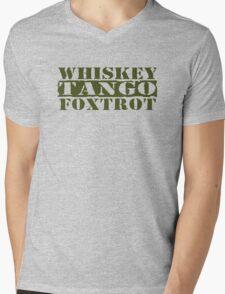 WTF? WHISKEY TANGO FOXTROT Mens V-Neck T-Shirt