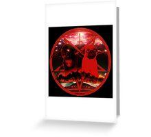 red pugtagram Greeting Card