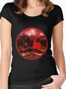 red pugtagram Women's Fitted Scoop T-Shirt