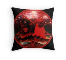 red pugtagram Throw Pillow