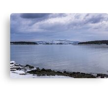 Acadia National Park Winter Time Canvas Print