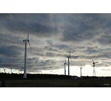 Windmill farm on Prince Edward Island Photographic Print