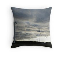 Windmill farm on Prince Edward Island Throw Pillow