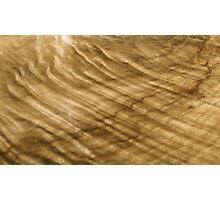Wood Grain Waves Photographic Print