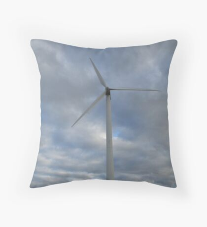 Electric Windmill, Prince Edward, Island, Canada Throw Pillow