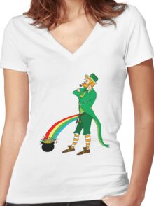 The End of the Rainbow Women's Fitted V-Neck T-Shirt