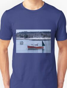 New England Lobster Boats Winter Time T-Shirt