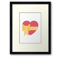 Heart With Ribbon Twitter Emoji Framed Print