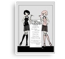 Gatsby Girl 1920s Recipe for Flapper  Canvas Print