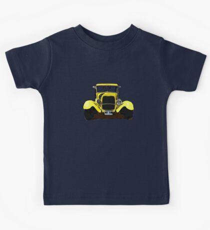 Classic Yellow Old Car Kids Tee