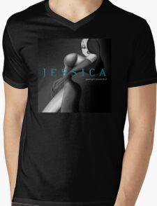 Jessica: Good Girl Drawn Bad Mens V-Neck T-Shirt