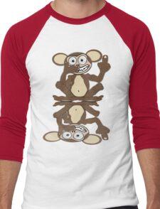 Monkey See Monkey Do Tee (Fur) Men's Baseball ¾ T-Shirt