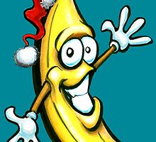 Merry Christmas Banana Happy New Year by Kevin Middleton
