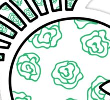Green Roses Sticker