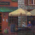 Relaxing at the Cafe by Susan Savad