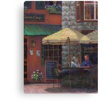 Relaxing at the Cafe Canvas Print