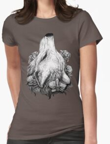 Outreach - Wolf with Orchids and Magnolias Womens Fitted T-Shirt