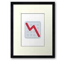 Chart With Downwards Trend Twitter Emoji Framed Print