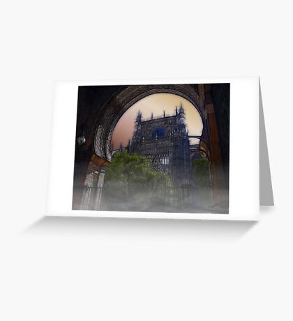 Gothic Tower Greeting Card