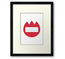 Name Badge Twitter Emoji Framed Print