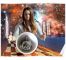 surreal crystal ball Poster