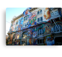 Mural in the Mission District Canvas Print