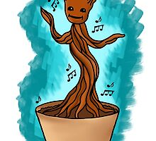 Dancing Baby Groot by Rachael Burriss