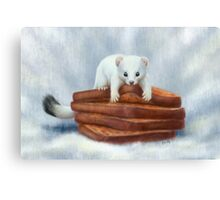 Toast Weasel 2 Canvas Print