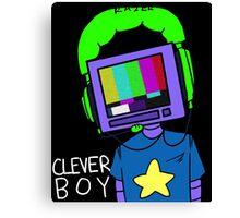 clever boy (color) Canvas Print