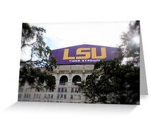 Tiger Stadium at Louisiana State University Greeting Card