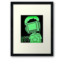 clever boy (green) Framed Print