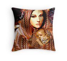 Lady Madonna Throw Pillow