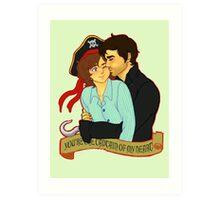 Hookfire - Captain of My Heart Art Print