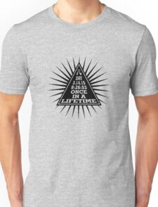 Pi Day Pyramid Once in a Lifetime Black Design Unisex T-Shirt