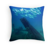 Formation over HMS Maori Throw Pillow