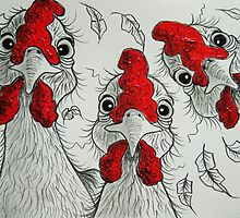 Three Chooks by Sally Ford