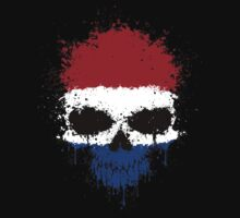 Chaotic Dutch Flag Splatter Skull Kids Clothes