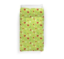 Red and Black Ladybugs Characters Duvet Cover