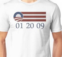 01 20 09 Barack Obama Inauguration t shirt Unisex T-Shirt