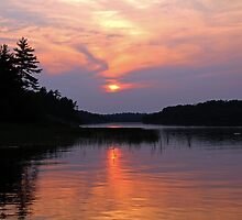 Moon River Silhouette by Debbie Oppermann