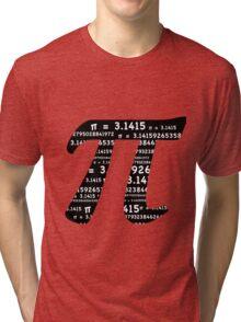 Pi Day Graphic Symbol Tri-blend T-Shirt
