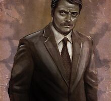 I Was Born Ready; I'm Ron F#cking Swanson by rabbittree