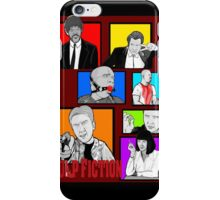 pulp fiction character collage pop art iPhone Case/Skin