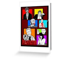 pulp fiction character collage pop art Greeting Card