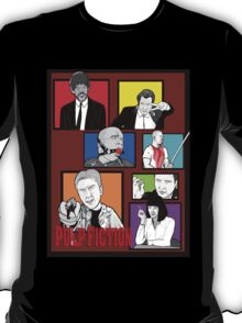 pulp fiction character collage pop art T-Shirt