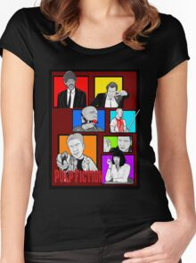 pulp fiction character collage pop art Women's Fitted Scoop T-Shirt