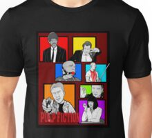 pulp fiction character collage pop art Unisex T-Shirt