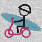 Scootery Boy series - scooter surferl t-shirt by go sugimoto